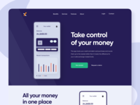 Personal Budget Calculation App Landing Page Header