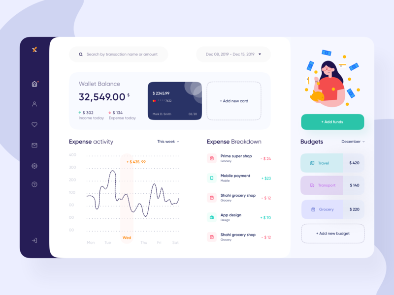 Personal Finance App Dashbaord UI webapplication budget finance webapp design webapp webdesign dashboard app dailyui designer landingpagedesign landingpage dashboard ui dashboard app ui design appui uiux ui design uidesigner uidesign