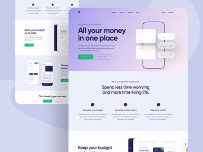 Personal Finance App Landing Page UI Design