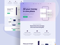 Personal Finance App Landing Page UI Design