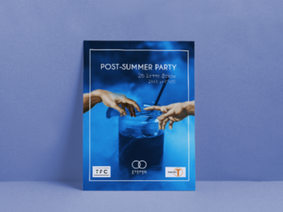 Poster for party