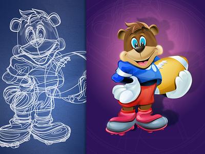 Cartoon character design #2 illustration sketch cute disney character design cartoon bear