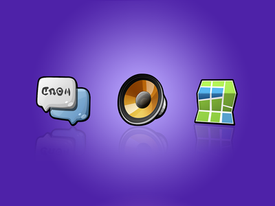 'Sushi' - a mobile system icon design #2 cartoon sushi map music message icon cute
