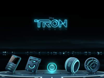 the theme of TRON ui icons tron interface future hi-tech cool