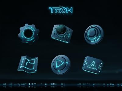 Tron icons icons tron ui future hi-tech