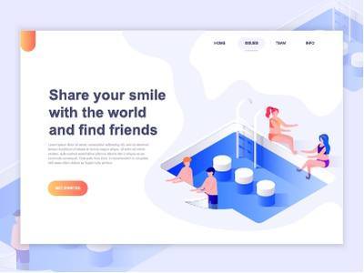 landing page template of relationship social networking by alexdndz