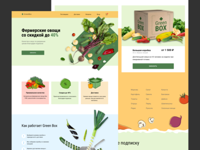 Web concept / Green Box