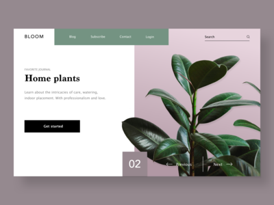 Main page concept / Bloom
