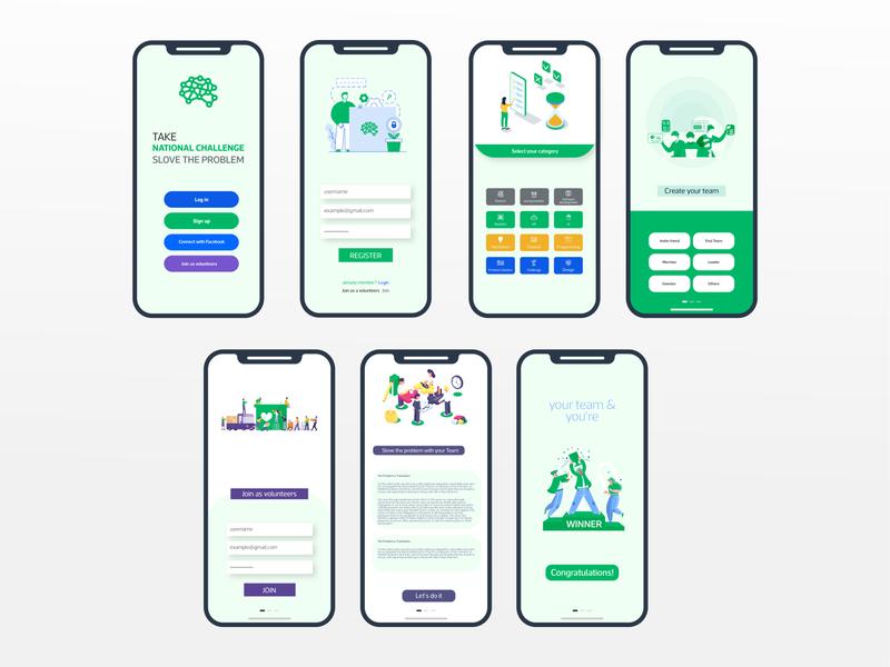 National Challenge App Design app ui kit app ui ux hackathon national challenge ui design app design ios app design app app ui design