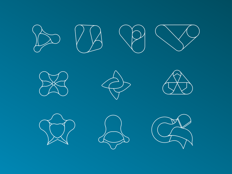 Line art app icon set app ios icon icons icon design logo design lineart icon design icon app icon