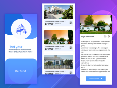 Real State App Design realstate app ui ui ux design ios ui ios kit ios app design android app design app ui ui design realstate app