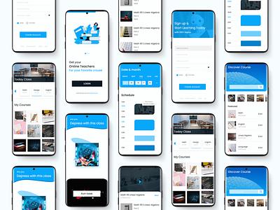 Online course with Routine App Ui Design ui design online platform ui online course uiux ux design uidesign