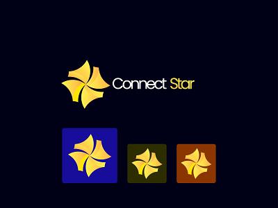 Connect Star Logo logo design concept branding concept abstract logotype technology logo logos logo logo design