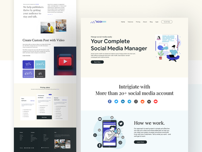 Social Media Manager Web App UI webtypography typographydesign web app design ux design uidesigner ux ui uidesign web ui web app website webdesign