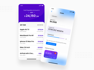 Loan Tracker iOS Native App app ux concept app design app ux ui ux ux design ui design app ui mobile mobile app loan tracker app native app ios app