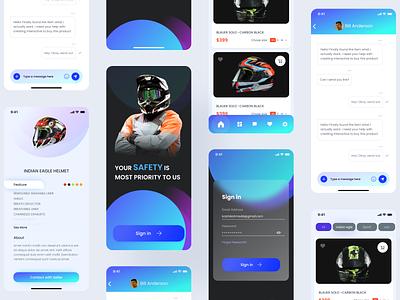 Helmet Ecommerce Mobile App ios ios app design app app ui app design ux design ui design ux ui ux ui design ui ecommarce app mobile app mobile ui