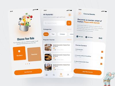 iKitchen   Online Cooking Training App online platform app food app ui ux ux design ios app kitchenapp uidesign learningapp app design onlinetrianing ui
