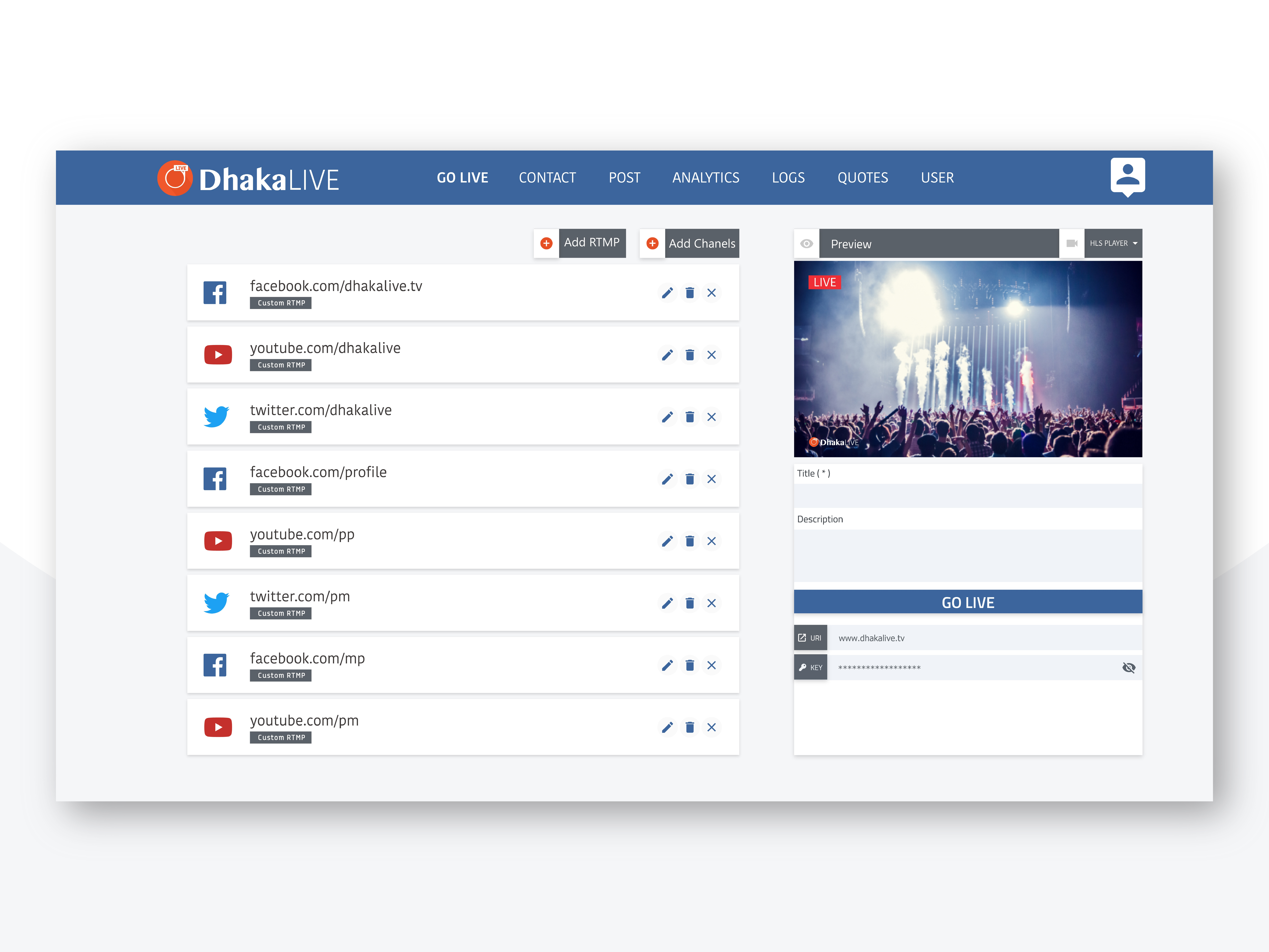 Dhakalive web Template by Bitgrap on Dribbble