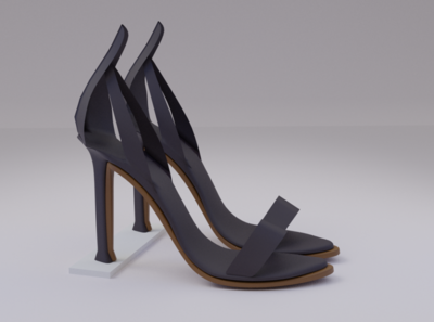High Heal women shoe shoe branding design 3d model blender 3d artist 3d 3d modeling high heal high heal