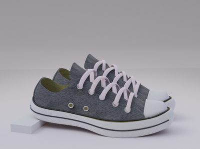 Converse branding 3d model blender 3d artist 3d 3d modeling shoe modelling shoe converse