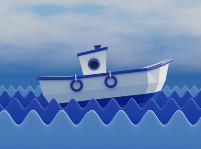 Boat 3d animation 3d model blender 3d artist 3d 3d modeling