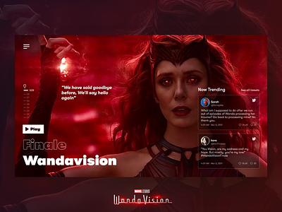 Wandavision - Scarlet Witch mcu marvel superhero scarlet witch magic series movie wanda wandavision