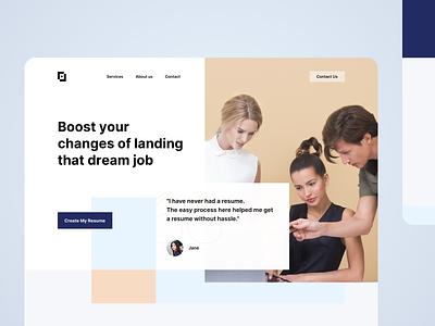 Resume Builder — Visual Exploration graphic design design website web design