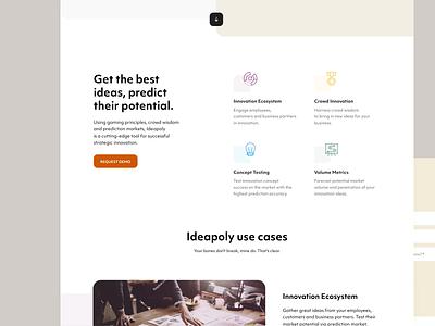 Ideapoly — Website ui illustration pattern web design website logo branding brand identity design
