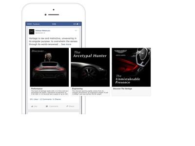 Aston Martin Vantage - Facebook Carousel