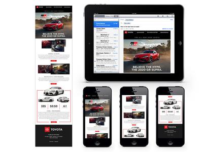2020 Toyota Supra New Vehicle Launch Email