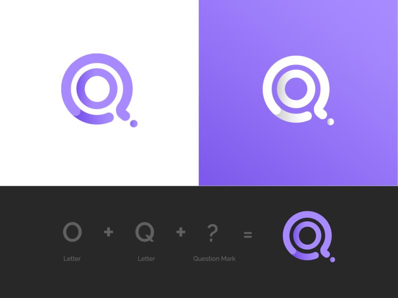 Q Logo symbol logotype website mark logodesign questionmark o letter icon lettremark brand identity logo design branding ui ui  ux color design