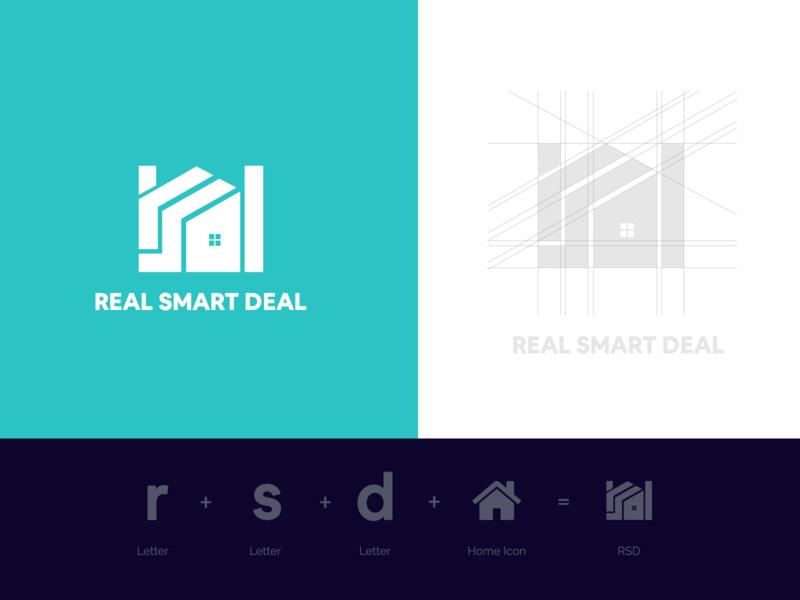 RSD- Logo Design icon realstate home realsmartdeal realsmartdeal symbol styleguide monogram lettering brand identity logodesign logo design idenity branding