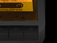 Tape deck with cassette