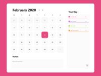Daily UI: Day 38 - Calendar