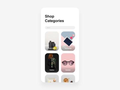 Daily UI: Day 99 - Categories app flat ui ux ui design colour branding minimal clean modern