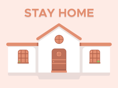 Stay Home, Stay Safe pastel vector art stay safe stay home covid vector typography colour illustration design minimal modern