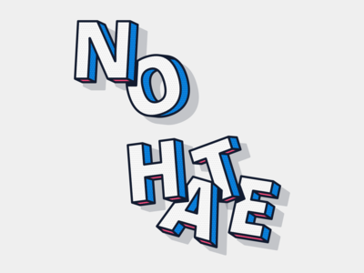 No Hate minimalist illustrator texture flat vector logo illustration typography branding minimal design clean modern