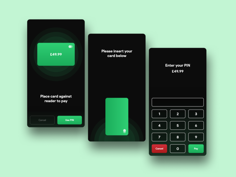 Card Reader clean ui cardui card bank banking minimal colour web app flat ux ui ui design design modern design clean modern