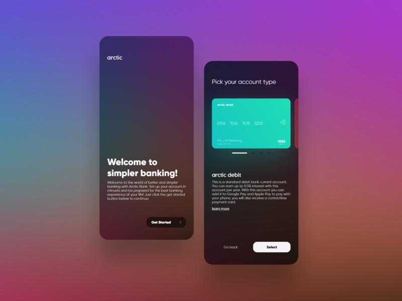 Arctic Bank bigsur blur card bank website app ux branding ui ui design design minimal clean modern