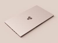 Rose Gold Laptop Render