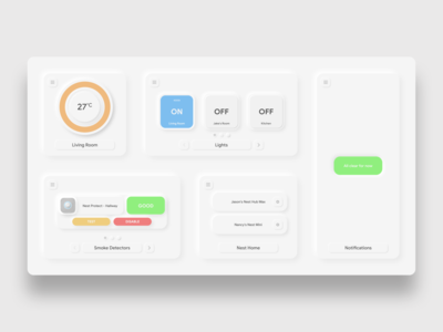 Daily UI: Day 21 - Home Monitoring Dashboard
