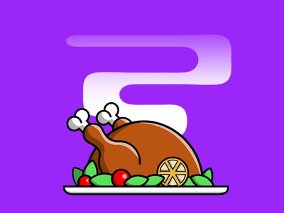 Happy Thanksgiving! thankful holiday thanksgiving vector logo design cycle icon illustration animation 2d animation 2d animation aftereffects