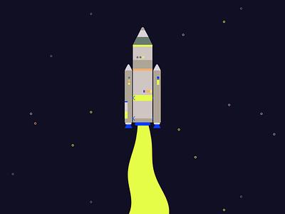 Blend 3015 loop gif stars inspiration explainer school of motion after effects rocket space 2d art animation blend