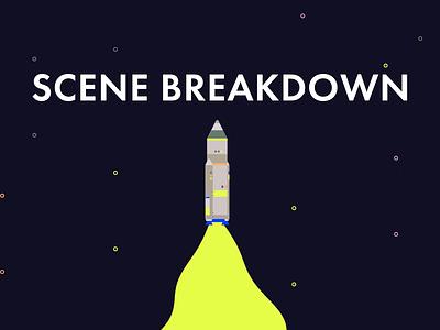Rocket Blast - Scene Breakdown blastoff rocket vector breakdown behind the scenes design illustration icon gif animation animation 2d aftereffects 2d animation animation