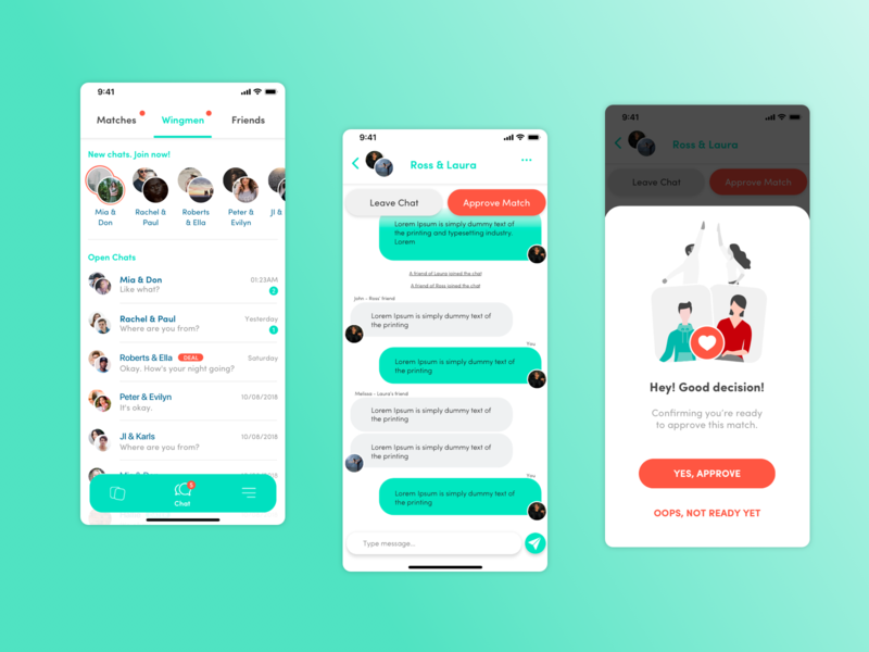 DMF Chatroom comunity design app ux ui