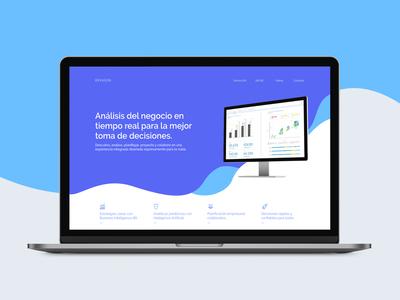 Analytics website concept