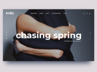 Knitz 'Chasing Spring' - Ecommerce Home Page