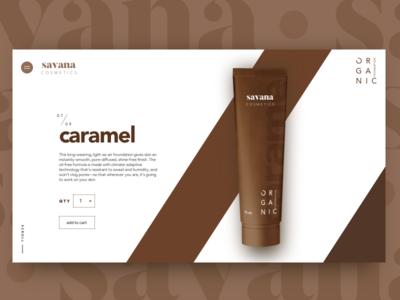Savana Cosmetics Product Page
