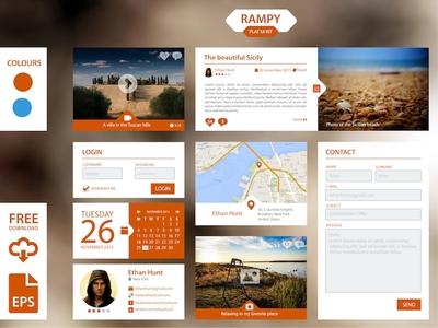 Flat Ui Kit Rampy 1.0 - Free
