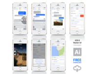 iOS 8 - Messages UI - Vector Free Download